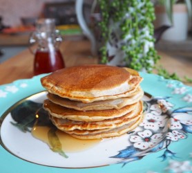 Earl Grey Pancakes with Lavender Syrup