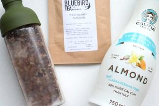 Ingredients for Vegan Raspberry Tea Brownies