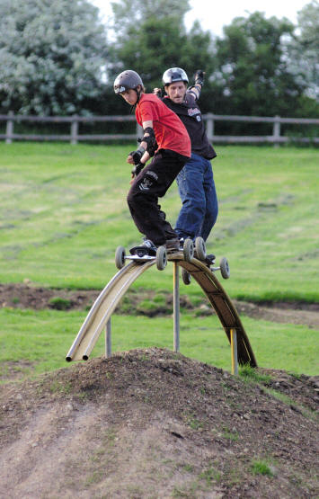 blast from the past - AJ and Tom on the rainbow rail