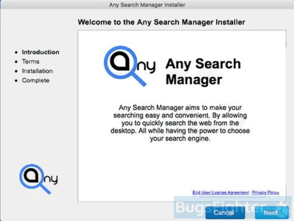 any search manager on mac