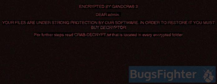 gandcrab v3 ransomware wallpaper