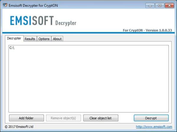 emsisoft crypton ransomware decryptor