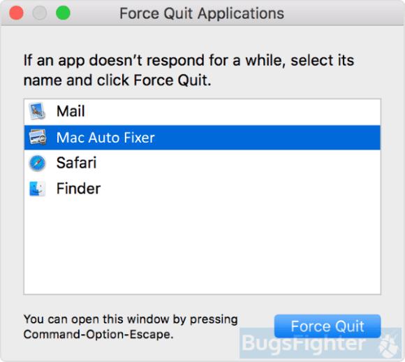 mac auto fixer force quit