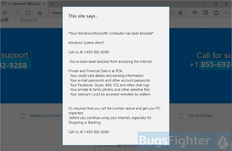 How To Remove Your Computer Has Been Blocked Pop Up Scam Bugsfighter