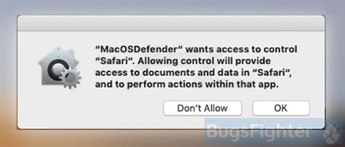 macosdefender pop-up