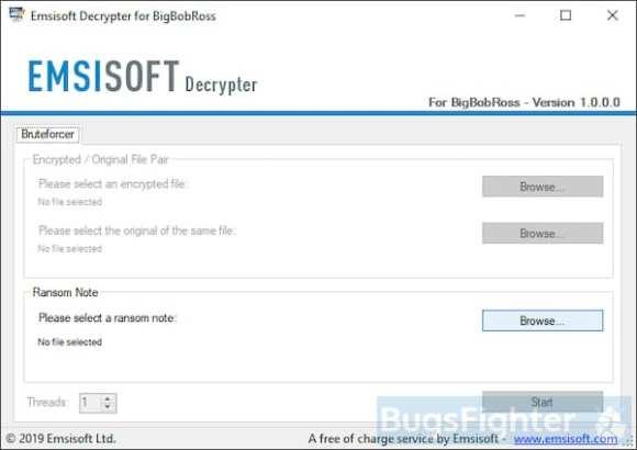 emsisoft bigbobross ransomware decryptor