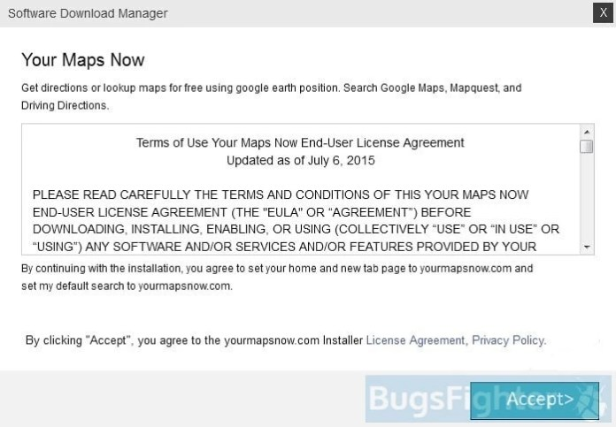 your maps now installer