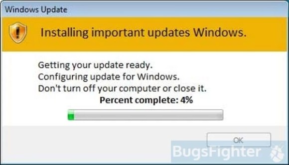 fake windows update from stop ransomware