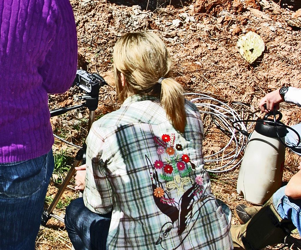 Elem Ed Teacher Recording Rattlesnake Emergence