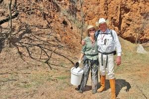 Delia Kane with Indiana Jones