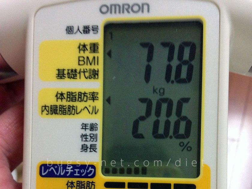 体重減推移77.8kg