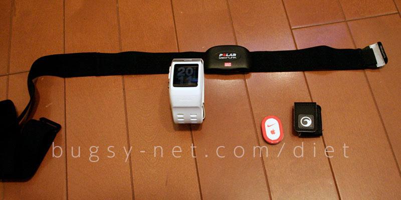 Nike GPS WatchとPolar心拍計
