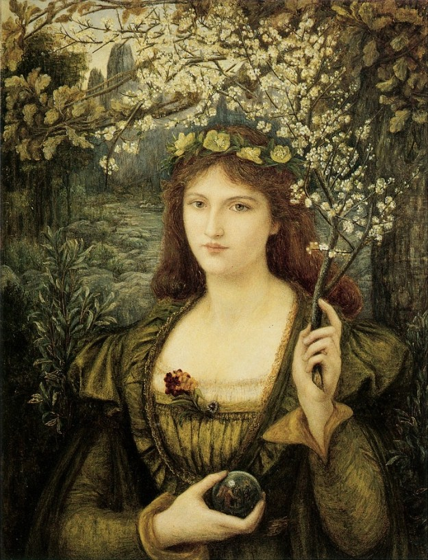 Madonna Pietra degli Scrovigni by Marie Spartali Stillman(1884). Currently in the Walker Art Gallery, Liverpool