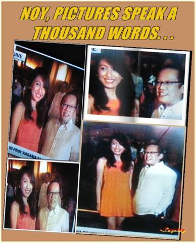 Jeane Napoles and Pnoy at an event in Cebu in November 2012 (Photo from Ang Lagalag ~ FB)