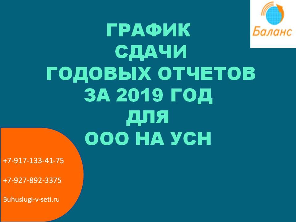 график отчетов ООО на УСН
