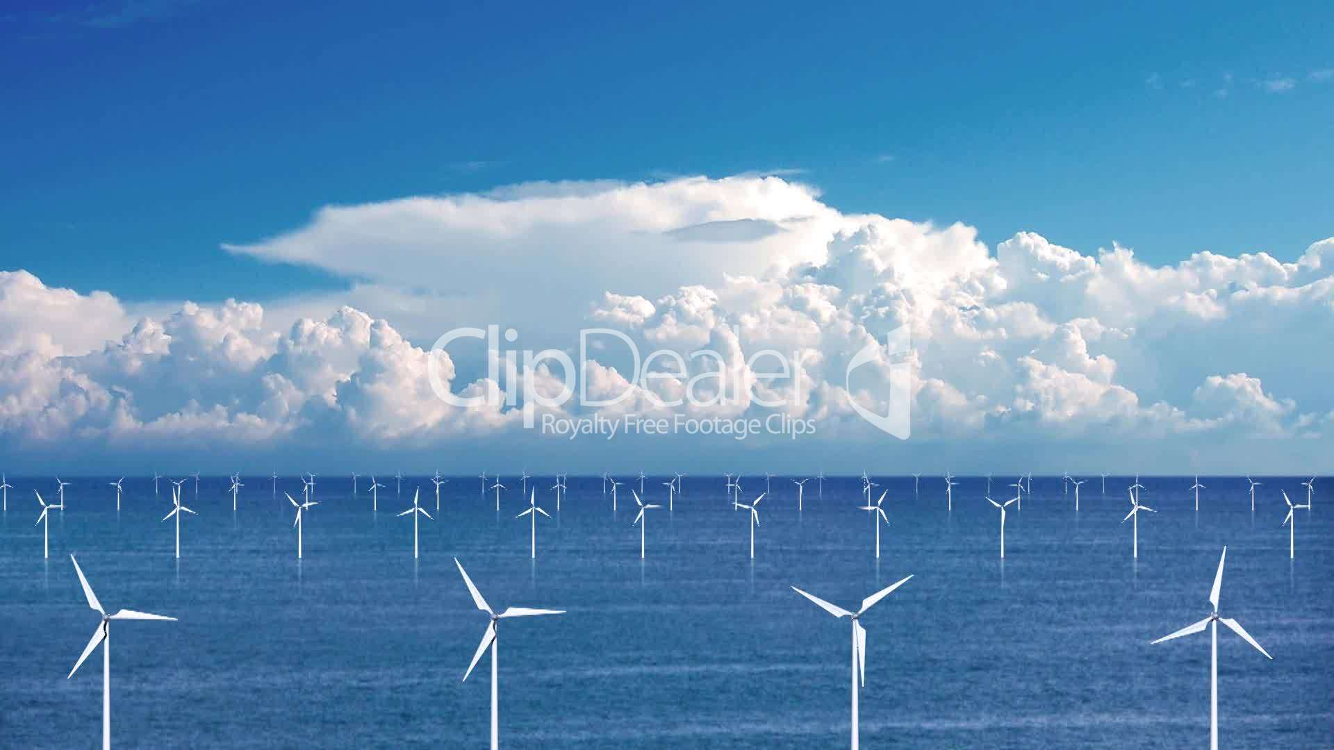 Wind Farm At Sea Royalty Free Video And Stock Footage