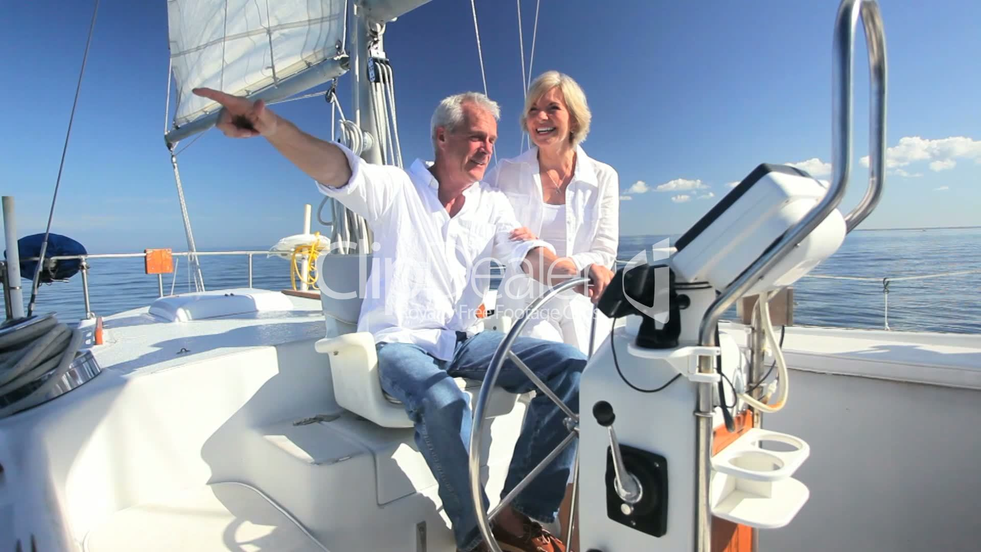 Retirement Outdoor Sailing Lifestyle Royalty Free Video
