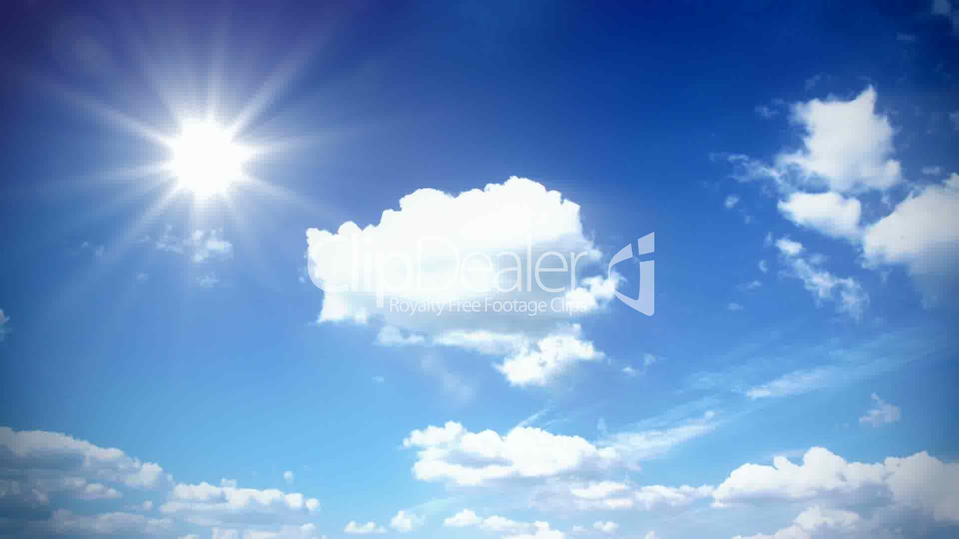 Sunny Sky With Clouds Royalty Free Video And Stock Footage