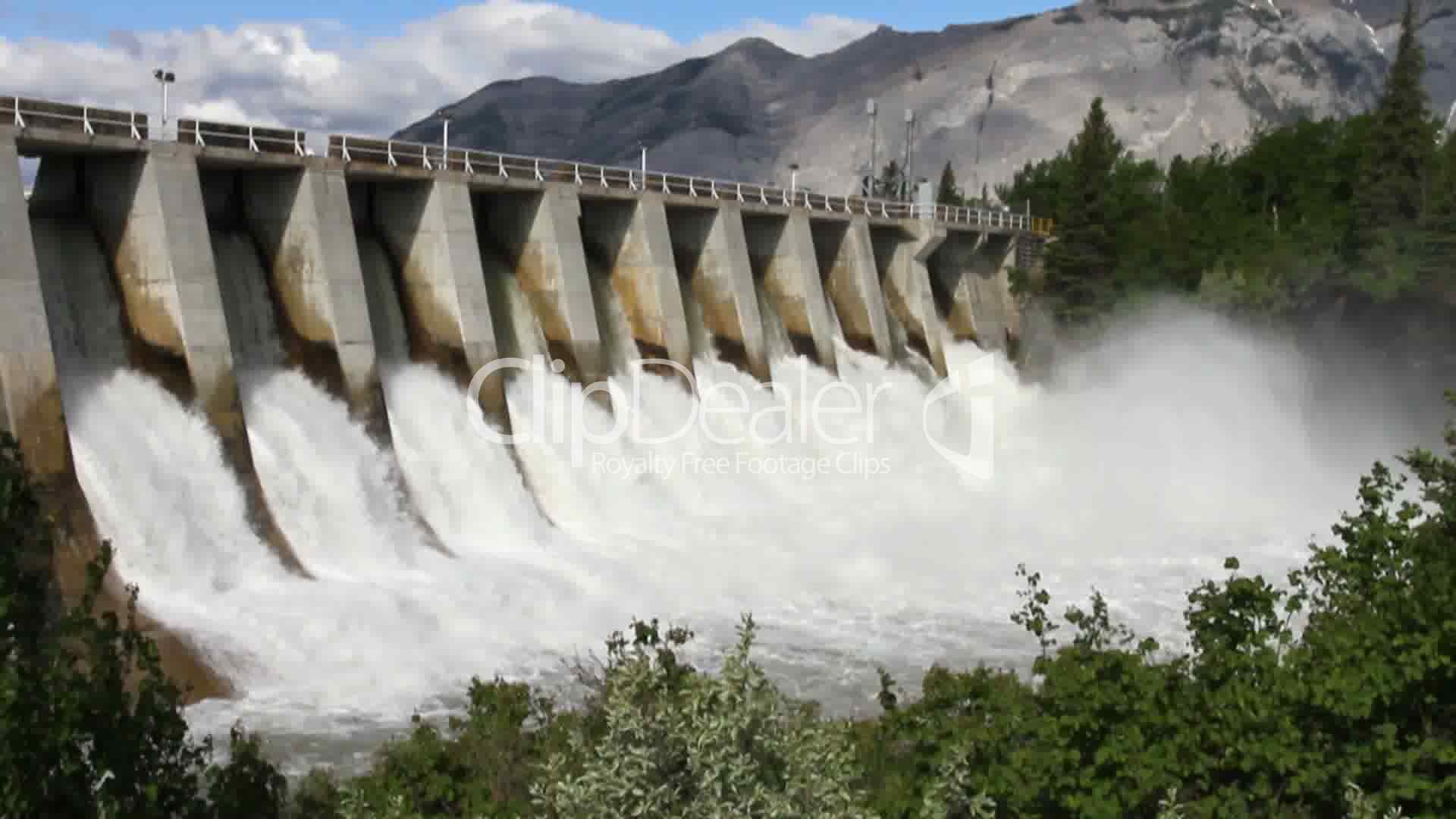 Hydro Electric Power Dam Royalty Free Video And Stock Footage