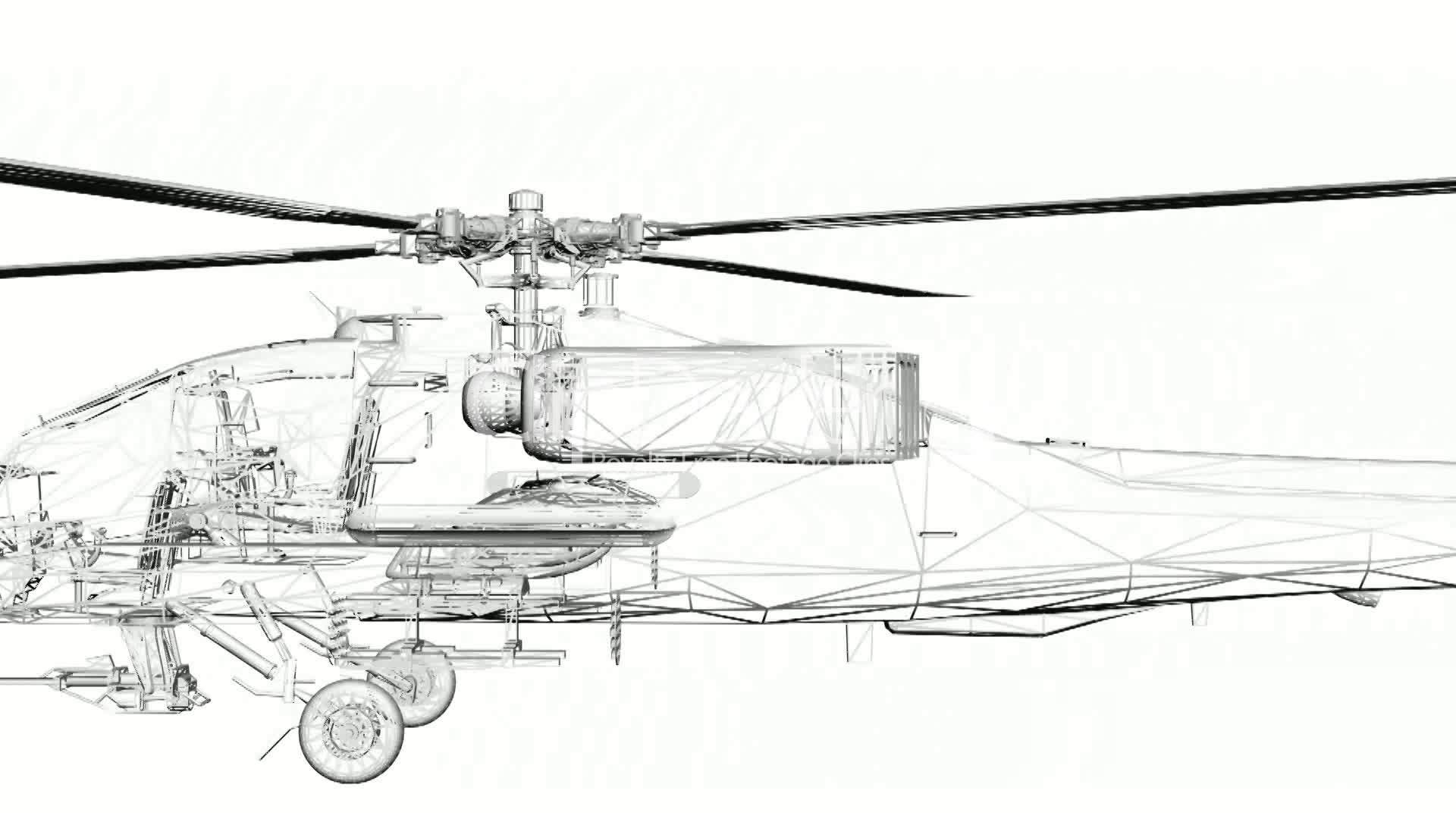 Moving Of 3d Helicopter Tor Transport Flight Fly Air