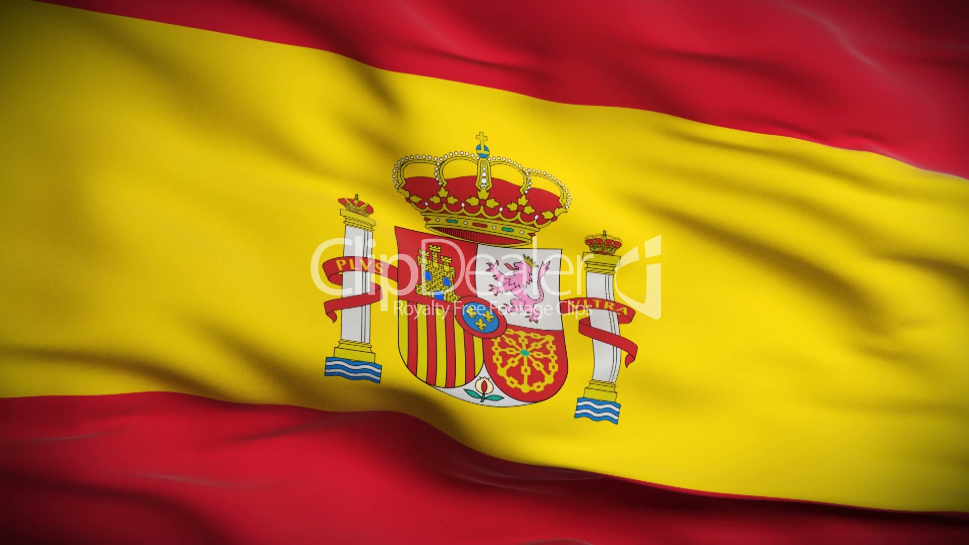 Spanish Flag Hd Looped Royalty Free Video And Stock Footage