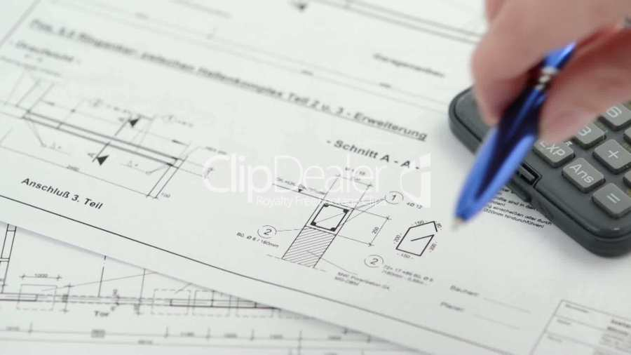 Blueprint for house construction  Royalty free video and stock footage house project