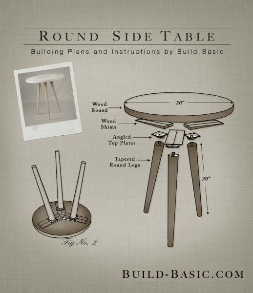 build a round side table build basic