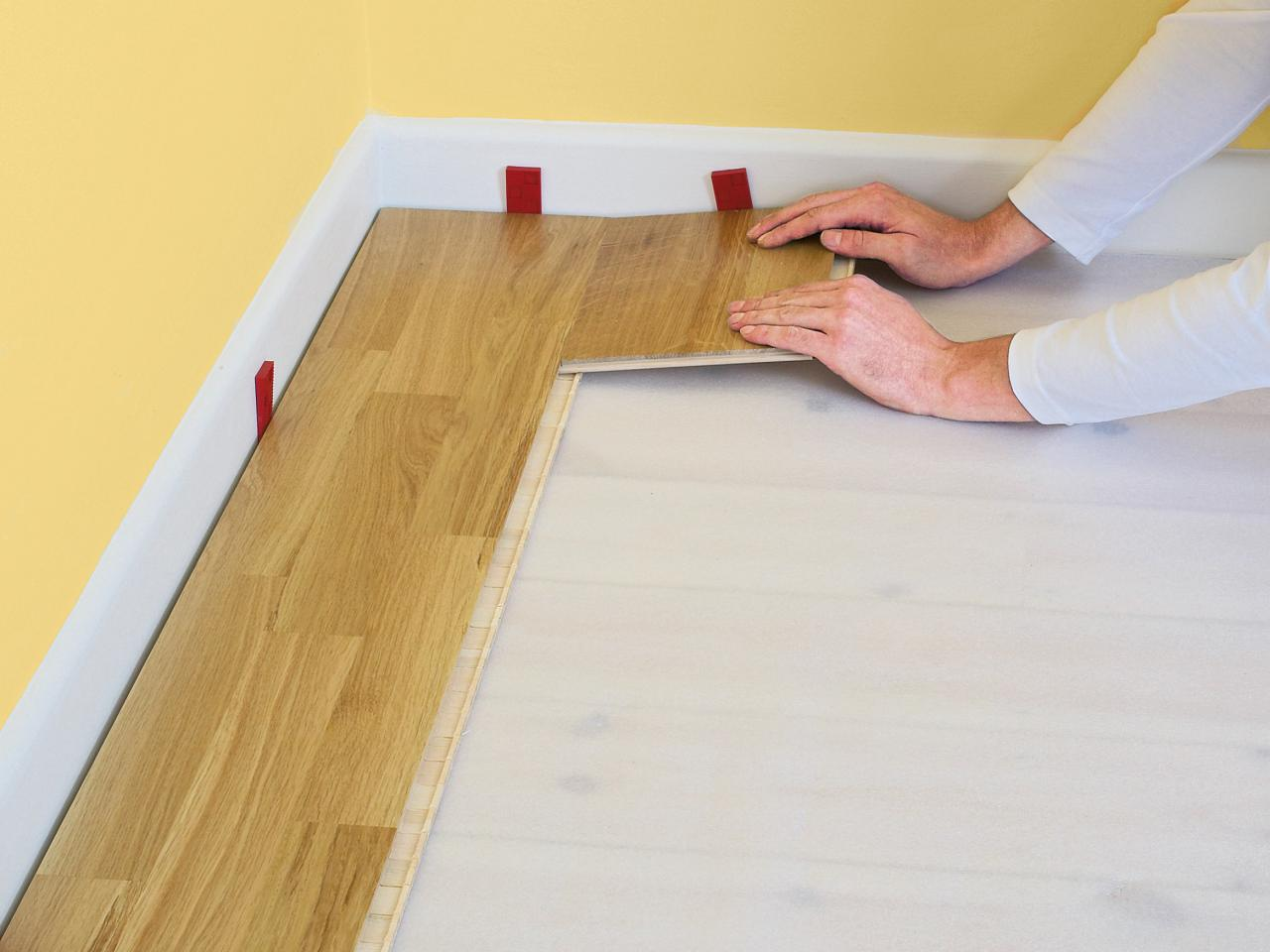 Laying of laminate