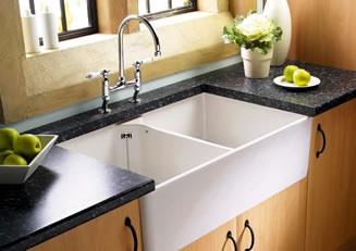 porcelain or ceramic kitchen sinks build