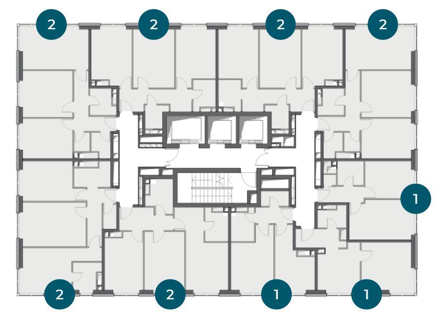 План этажа в ЖК метрополия