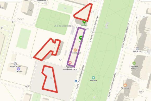 жк юнион парк на карте