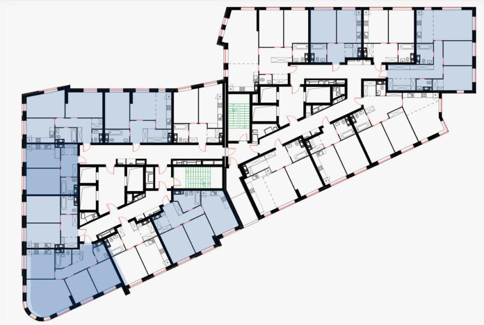 план этажа в юнион парк