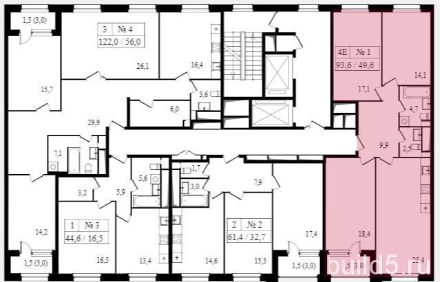 жк  балтийский план этажей корпуса 1