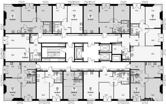 ЖК Holland Park план этажа