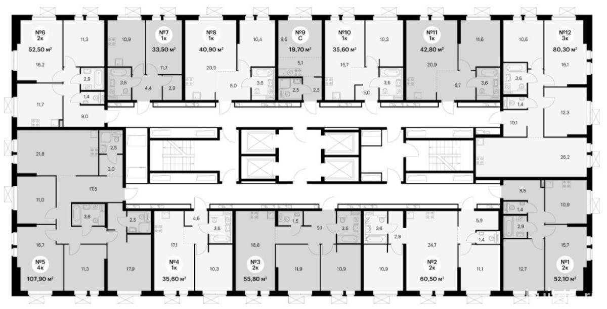 жк большая очаковская 2 план этажа