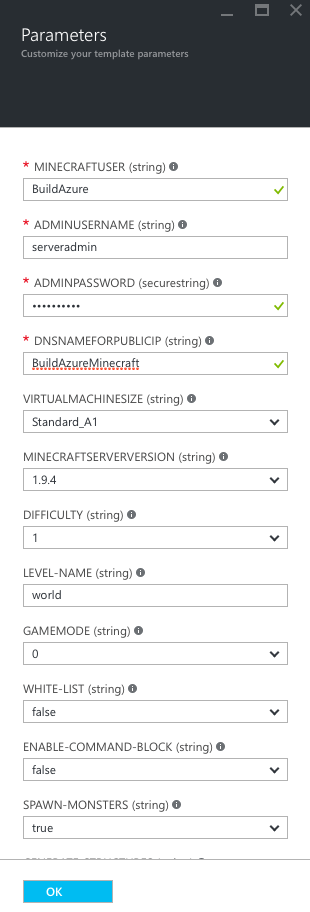 SetupMinecraft-002-ServerParameters