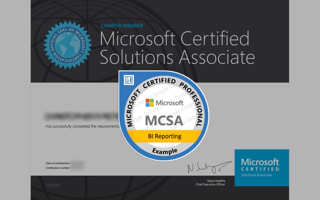 MCSA: BI Reporting Certification from Microsoft