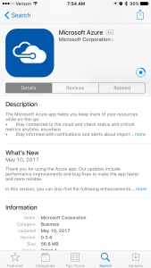 Azure Portal goes Native on iOS and Android 1