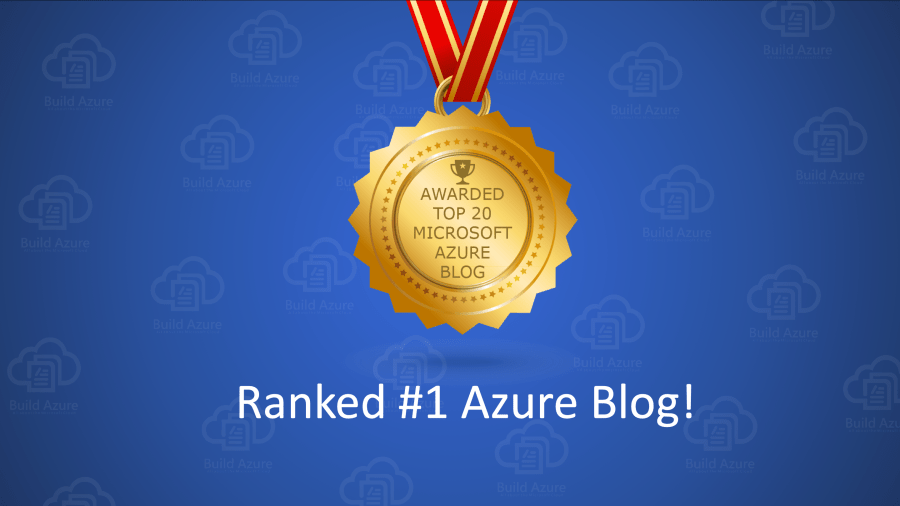 BuildAzure.com Ranked Top Microsoft Azure Blog to Follow in 2019