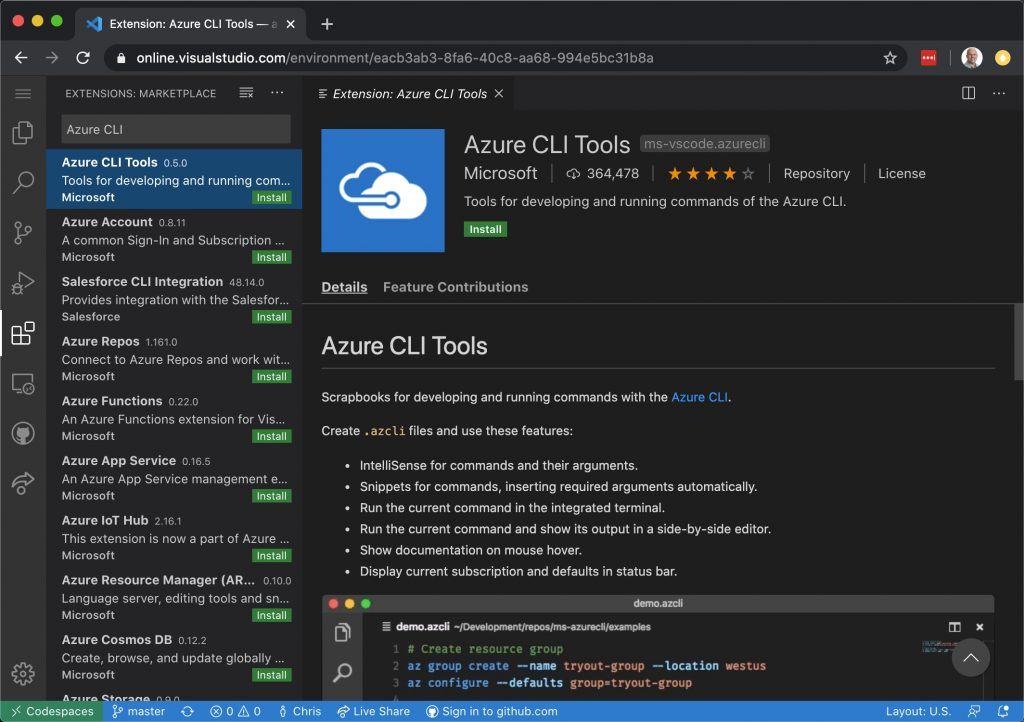 Getting Started with Visual Studio Codespaces - Cloud IDE 5
