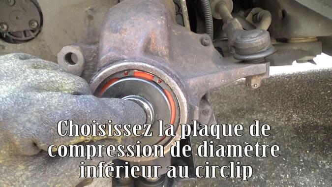 Choisir la plaque de compression de diamètre inférieur au circlip