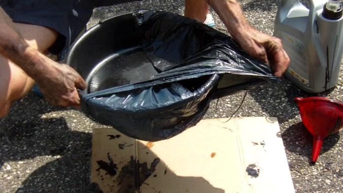 Le sac plastique permet de réduire le nettoyage