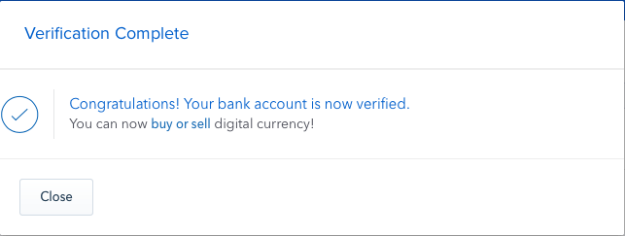 Coinbase Payment Verification