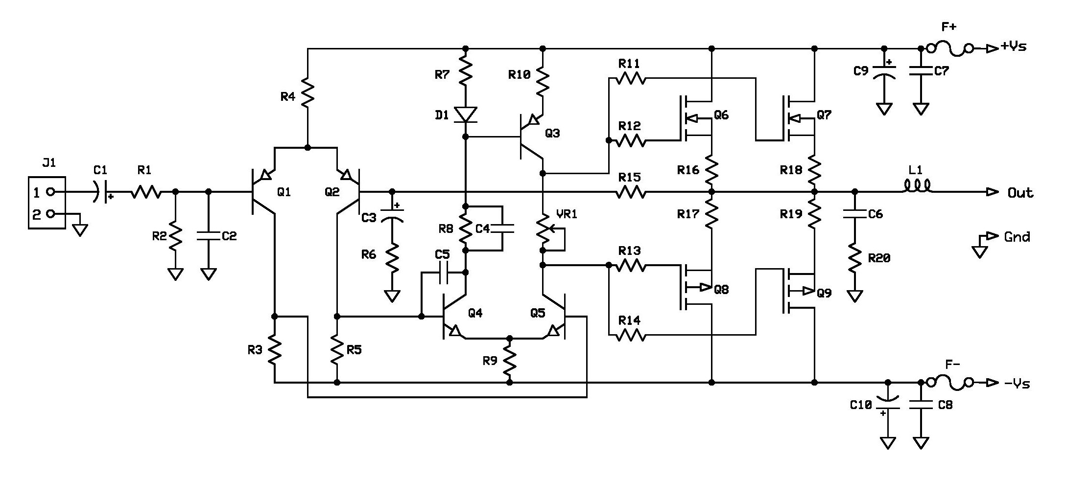 5 Watt Amplifier Circuit Diagram