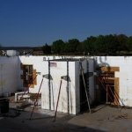 Poured ICF walls