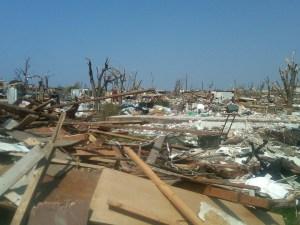 wood-frame home storm damage