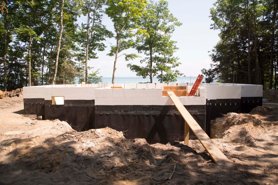 ICF basement waterproofing - after pour