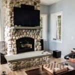 Puddingstone Fireplace