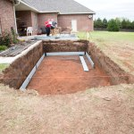 Form-a-Drain footer and drain system is going in.