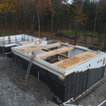 Waterproofing and backfilling.